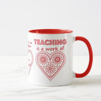 Teaching is a Work of Heart - Personalized Cup