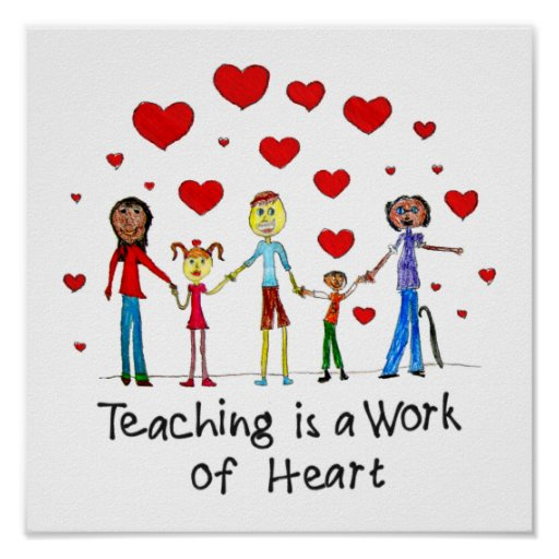 Teaching is a Work of Heart Square Poster