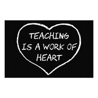 Teaching is a Work of Heart Stationery