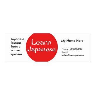 Teaching Japanese Language -- Advertising Cards Mini Business Card