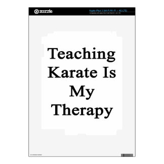 Teaching Karate Is My Therapy Skin For iPad 3
