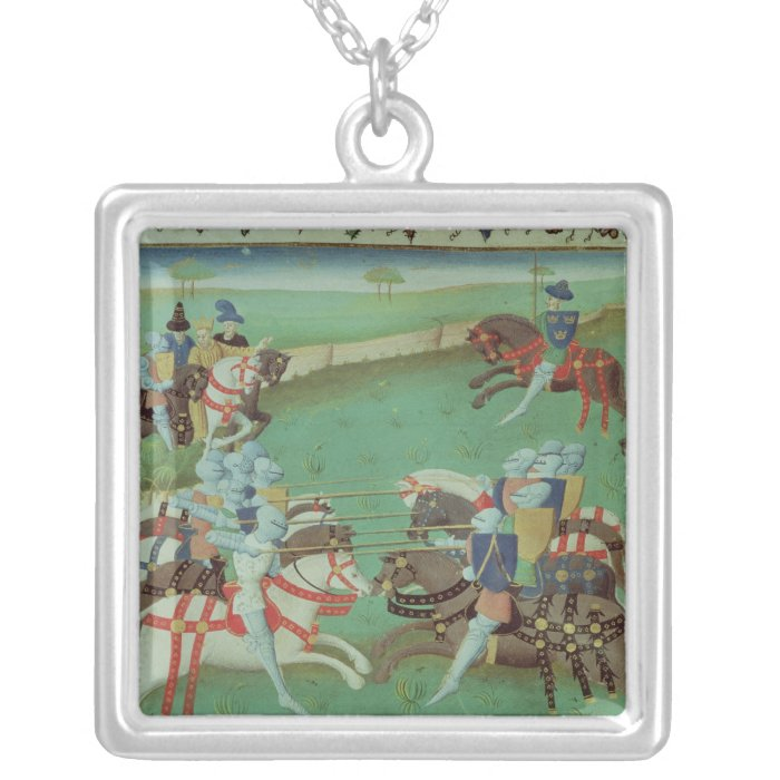 Teaching Knights to Joust Silver Plated Necklace