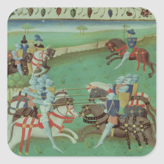 Teaching Knights to Joust Square Sticker