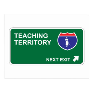 Teaching Next Exit Postcard