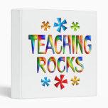 TEACHING ROCKS 3 RING BINDER
