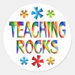 TEACHING ROCKS CLASSIC ROUND STICKER
