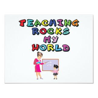 TEACHING ROCKS MY WORLD CARD