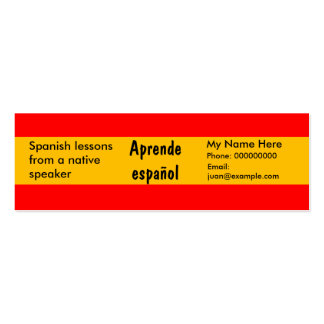Teaching Spanish Language -- Advertising Cards Mini Business Card