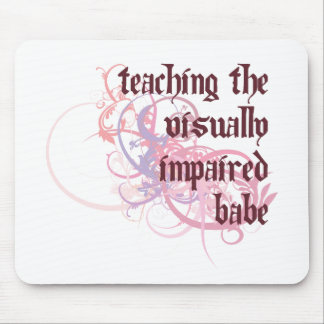 Teaching the Visually Impaired Babe Mouse Mat