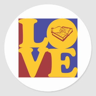 Teaching the Visually Impaired Love Round Stickers