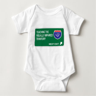 Teaching the Visually Impaired Next Exit Baby Bodysuit