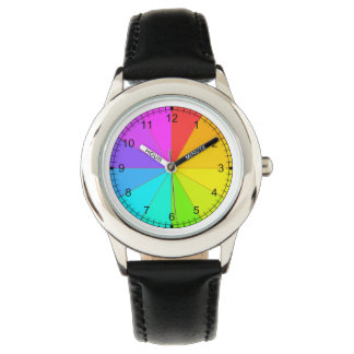 Teaching Time Rainbow Color Wheel Watch for Child