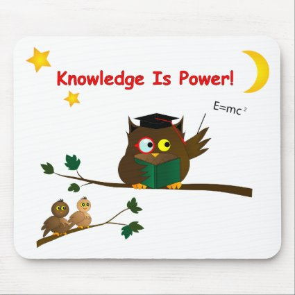 Teaching Wise Owl Mouse Pad