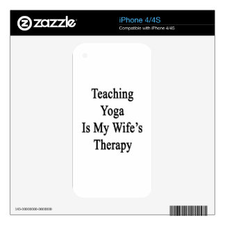 Teaching Yoga Is My Wife's Therapy iPhone 4 Decals
