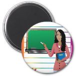 TeachingBusinessCard1 2 Inch Round Magnet