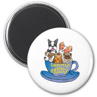 teacup agility 2 inch round magnet