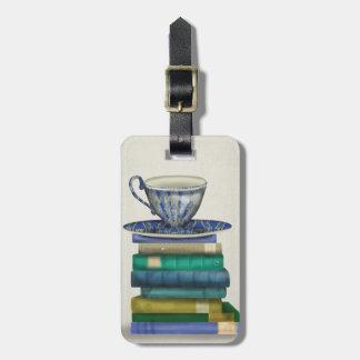 Teacup and Books 2 Bag Tag