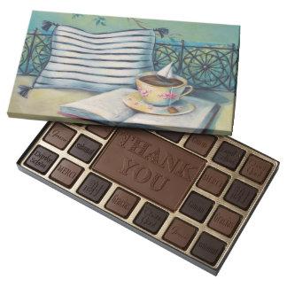 Teacup & Book Customizable Belgian Chocolate Box