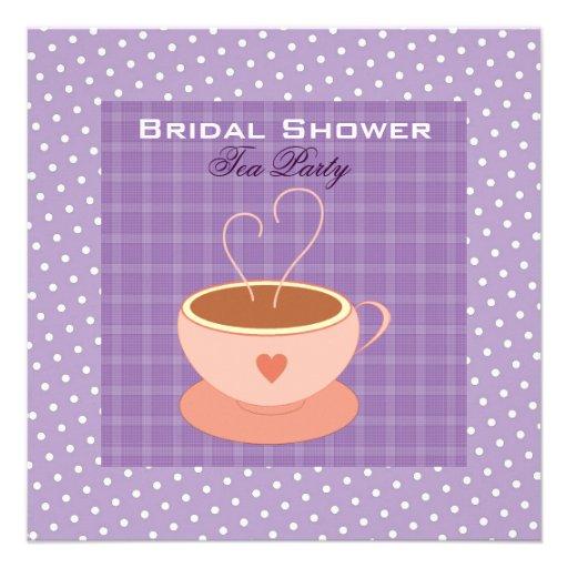 Teacup Bridal Shower Tea Party Custom Invitation