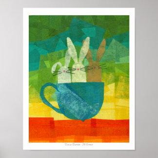 Teacup Bunnies Posters
