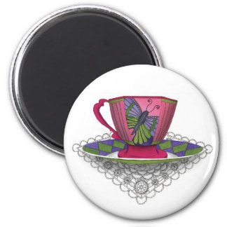 Teacup Butterfly Magnet