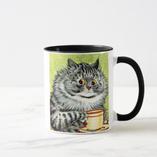Teacup Cat by Louis Wain Mug