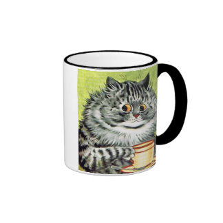 Teacup Cat by Louis Wain Coffee Mug