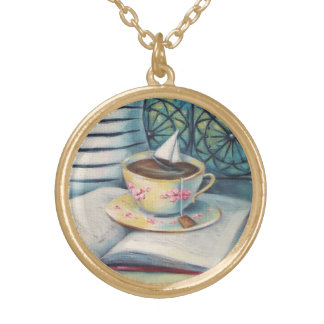 Teacup Charm Necklace - Gold