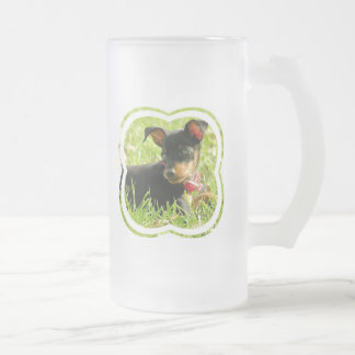 Teacup Chihuahua Frosted Beer Mug