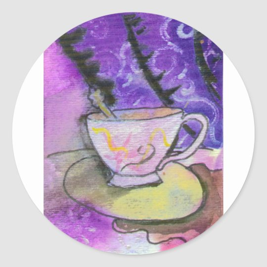 Teacup Classic Round Sticker