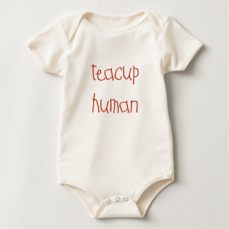 Teacup Human (red) Rompers