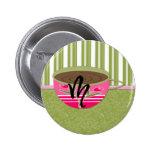 Teacup Monogram M Buttons