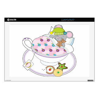"Teacup Mouse 17"" Laptop Decal"