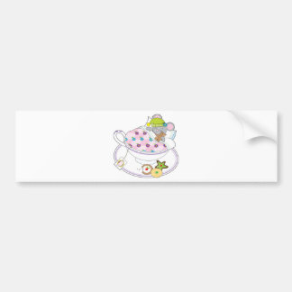 Teacup Mouse Bumper Sticker