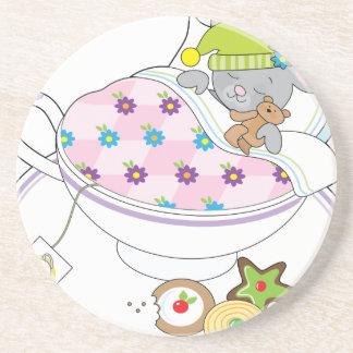 Teacup Mouse Sandstone Coaster