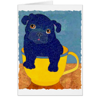 Teacup Pug Card