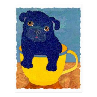 Teacup Pug Post Card