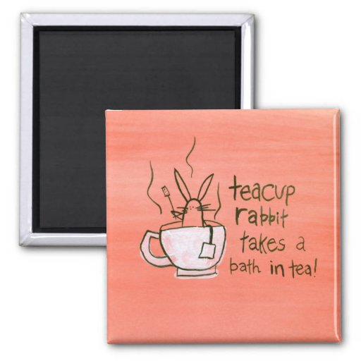 Teacup Rabbit Takes a Bath. In Tea! Magnets