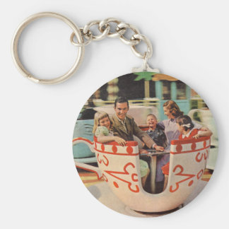 teacup ride at the amusement park keychain