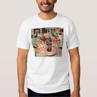 teacup ride at the amusement park tee shirt