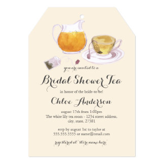 Teacup Sweet Bridal Shower Tea Party Invite