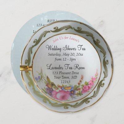 Teacup Tea Party Bridal Shower Invitation