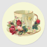 Teacup Time Classic Round Sticker