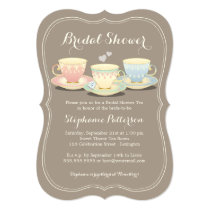Teacup Trio Chic Bridal Shower Tea Party Card