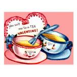 Teacup Valentine Postcard