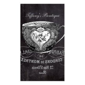teacup vintage Chalkboard bridal shower tea party Business Card