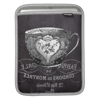 teacup vintage Chalkboard bridal shower tea party iPad Sleeve