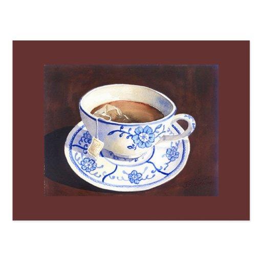 Teacup with Teabag Postcard