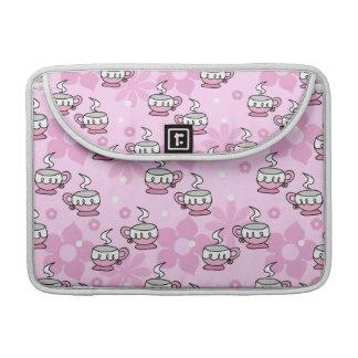 Teacups and Flower Pink Pattern MacBook Pro Sleeves