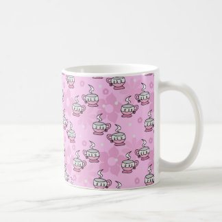 Teacups and Flower Pink Pattern Mugs